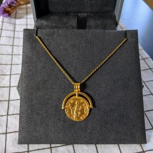 Missoma Lucy Williams Gold Roman Arc Coin Necklace